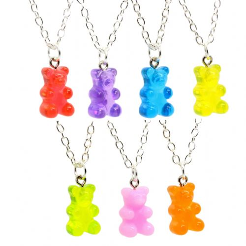 Bluebubble MY SWEET SHOP Gummy Bear Necklace With FREE Gift Box